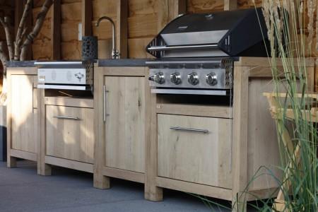 Houten Buiten Keuken : Buitenkeuken wesa tuinhout someren