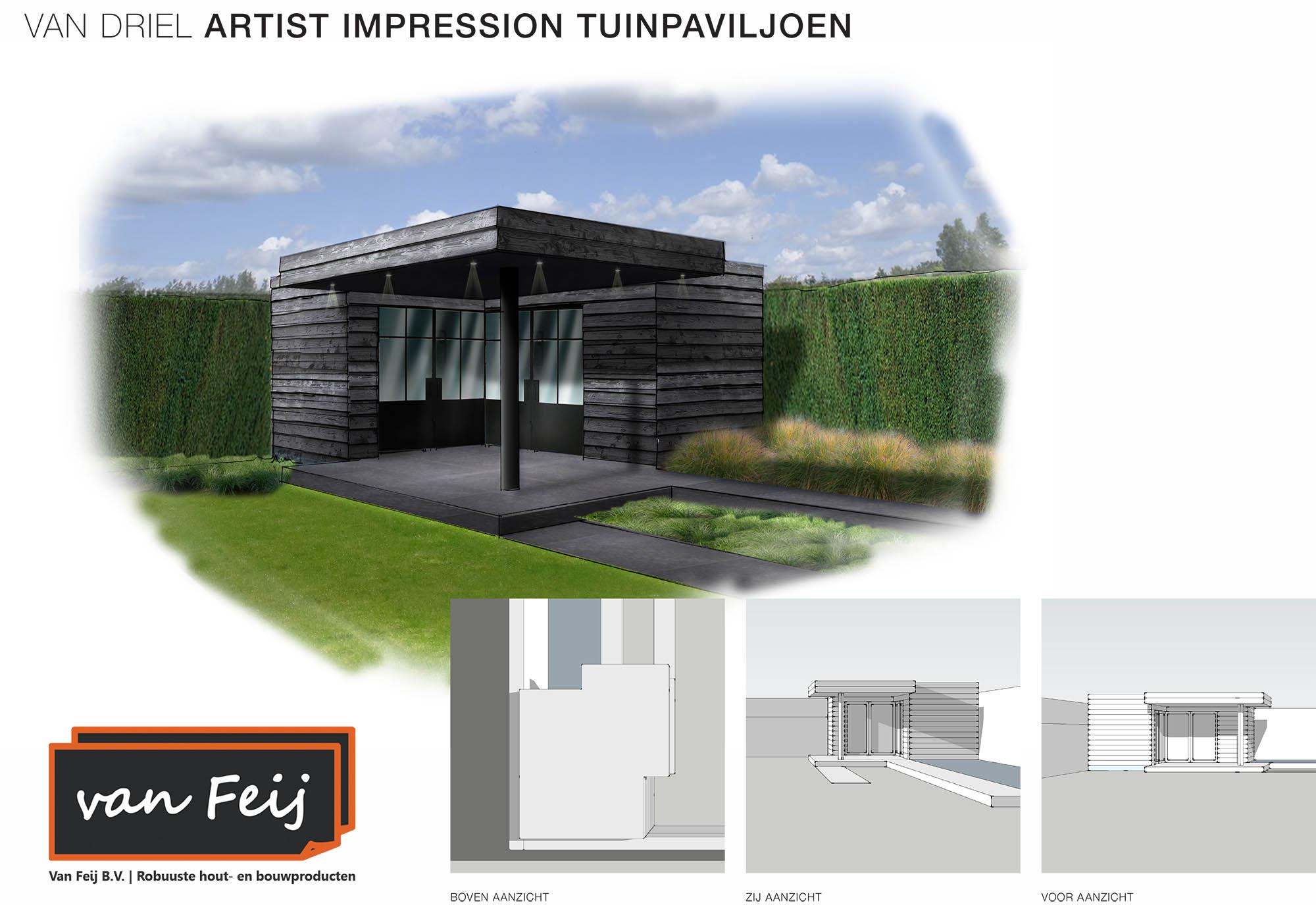 ontwerp tuinpaviljoen Van Driel